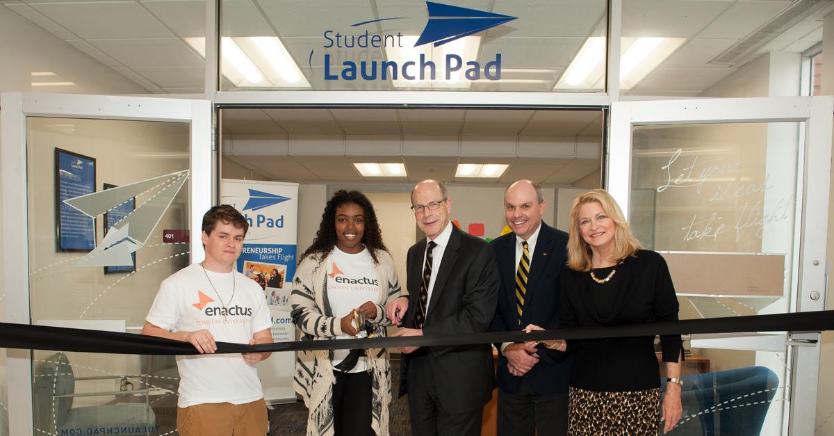 Towson University's Student Launch Pad Ribbon Cutting