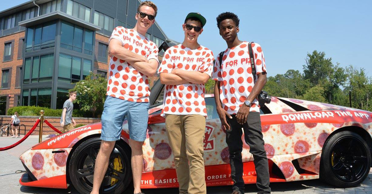 'Push for Pizza' Tours Towson with Student Launch Pad