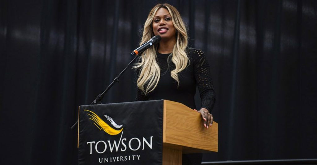 laverne cox speaking at towson university diversity speaker series 2018
