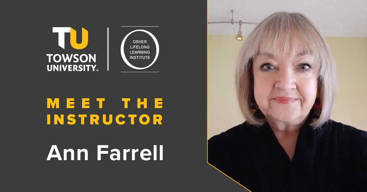Osher Instructor Spotlight: Ann Farrell